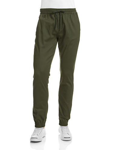Publish Brand Structured Jogger Pants-OLIVE-34