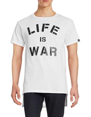 Defend Paris Step Hem Graphic T-Shirt-WHITE-Large 88278487_WHITE_Large