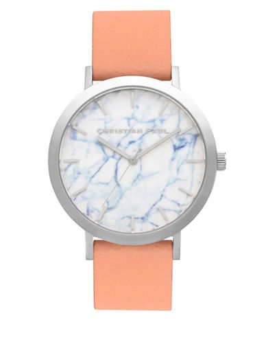Christian Paul Airlie Marble Stainless Steel Analog Watch-NUDE-One Size