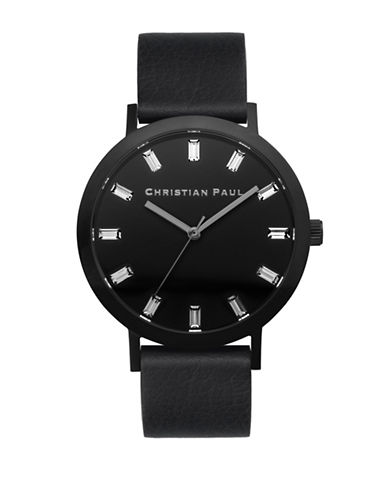 Christian Paul The Strand Luxe Stainless Steel Analog Watch-BLACK-One Size