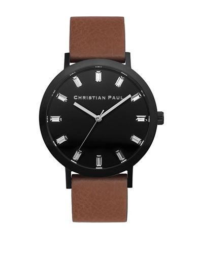 Christian Paul Bridport Luxe Stainless Steel Analog Watch-BROWN-One Size