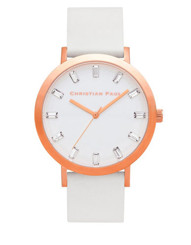 Christian Paul Whitehaven Luxe Stainless Steel Analog Watch-WHITE-One Size