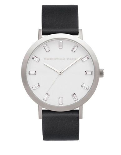 Christian Paul Elwood Luxe Stainless Steel Analog Watch-BLACK-One Size