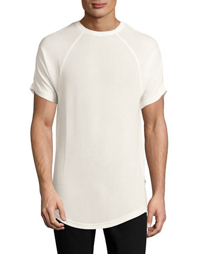 Publish Brand Knit Seamed T-Shirt-WHITE-Medium 88616367_WHITE_Medium