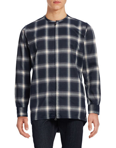 Publish Brand Zip Flannel Jacket-BLUE-Large 88861187_BLUE_Large