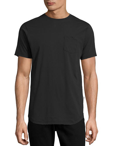 Publish Brand Vented Longline Pocket T-Shirt-BLACK-Medium