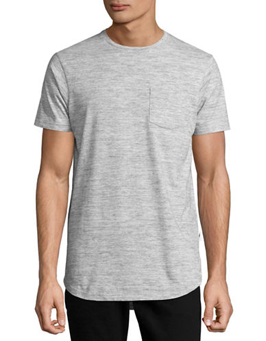 Publish Brand Vented Longline Pocket T-Shirt-HEATHER GREY-Medium