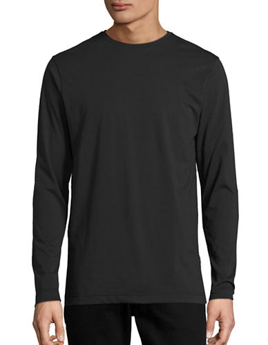 Publish Brand Index Drop Shoulder Cotton Pullover-BLACK-Small 88616334_BLACK_Small