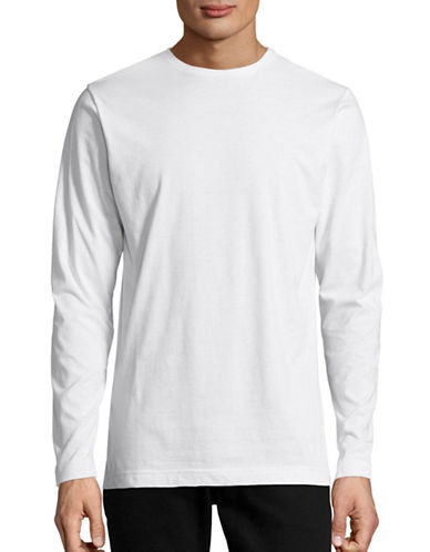 Publish Brand Index Drop Shoulder Cotton Pullover-WHITE-Small