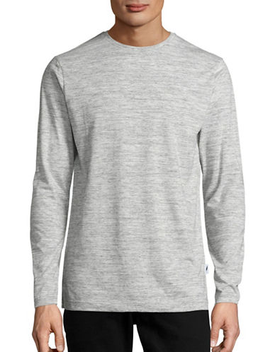 Publish Brand Vented Long Sleeve T-Shirt-HEATHER GREY-Small