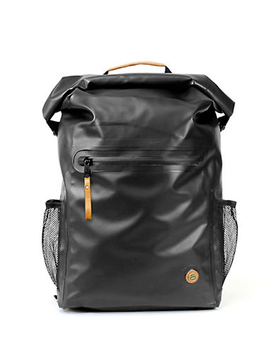 Pkg Water-Resistant Rolltop Backpack-BLACK-One Size