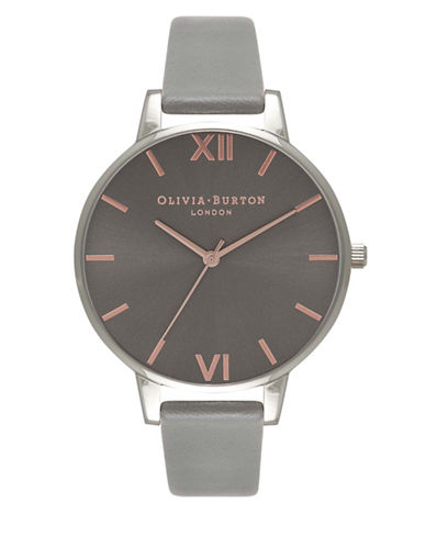 Olivia Burton Rose Goldtone Big Dial Analog Watch-DARK GREY-One Size