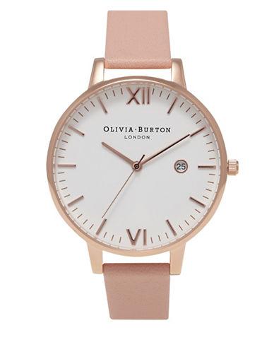 Olivia Burton Analog Timeless Rose-Goldtone Leather Strap Watch-ROSE GOLD-One Size