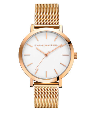 Christian Paul Analog Raw Collection Rose Goldtone Bracelet Watch-ROSE GOLD-One Size