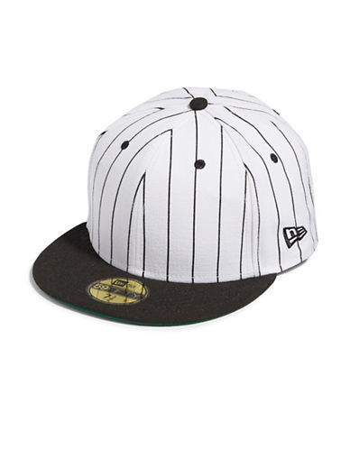 Publish Brand Pinstripe Baseball Cap-WHITE-Large/X-Large