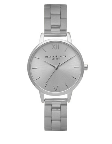Olivia Burton Analog Midi Dial Stainless Steel Bracelet Watch-SILVER-One Size