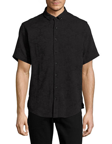 Publish Brand Jacquard Floral Short-Sleeve T-Shirt-BLACK-Small