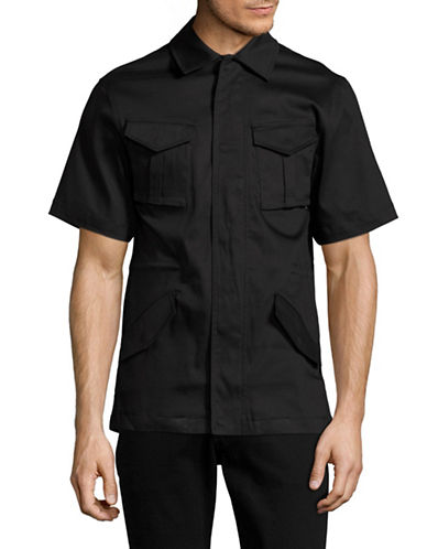 Publish Brand Kayden Shirt Jacket-BLACK-Large