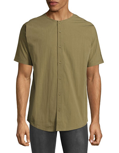 Publish Brand Rhyss Short Sleeve Button Shirt-GREEN-Small