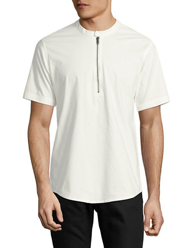 Publish Brand Malkom Slubbed Popover Shirt-WHITE-Large