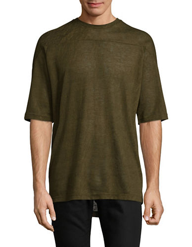Publish Brand Seamed Yoke T-Shirt-GREEN-X-Large