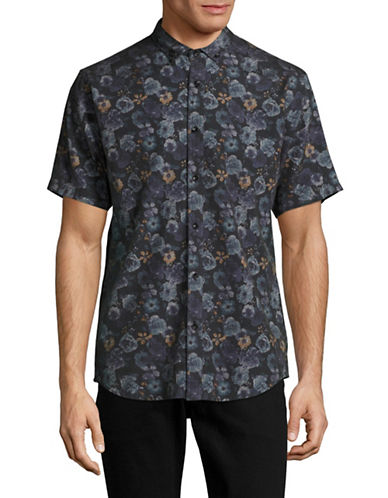 Publish Brand Jovani Floral Shirt-BLACK-Small