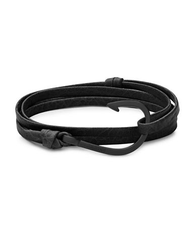 Miansai Hook On Leather Bracelet-GREY-One Size