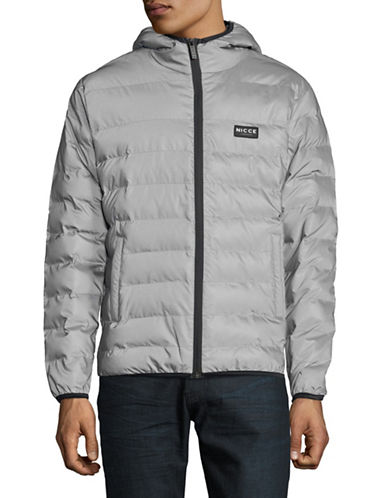 Nicce Pathway Down Jacket-SILVER-X-Large