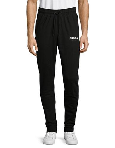 Nicce Logo Jogger Pants-BLACK-Medium 89398730_BLACK_Medium