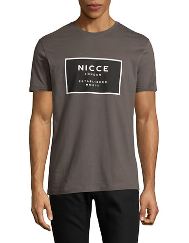 Nicce Established Logo Cotton T-Shirt-CHARCOAL-Medium 89398718_CHARCOAL_Medium