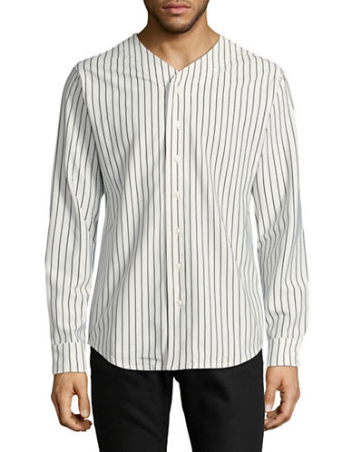 Publish Brand Jiego Baseball Button-Down Shirt-WHITE-Large
