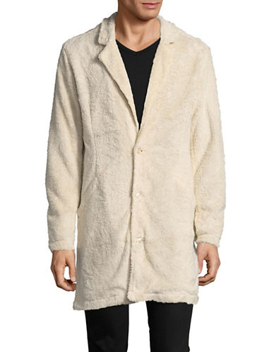 Publish Brand Reynaldo Sherpa Coat-BEIGE-Small