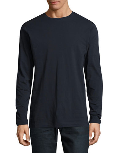 Publish Brand Index Drop Shoulder Cotton Pullover-NAVY-Small