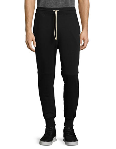 Publish Brand Drawstring Jogger Pants-BLACK-Small
