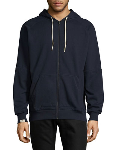 Publish Brand Front Zip Hoodie-NAVY-Small