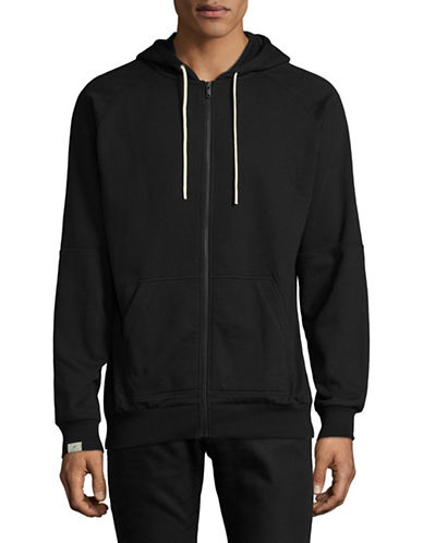 Publish Brand Front Zip Hoodie-BLACK-Large