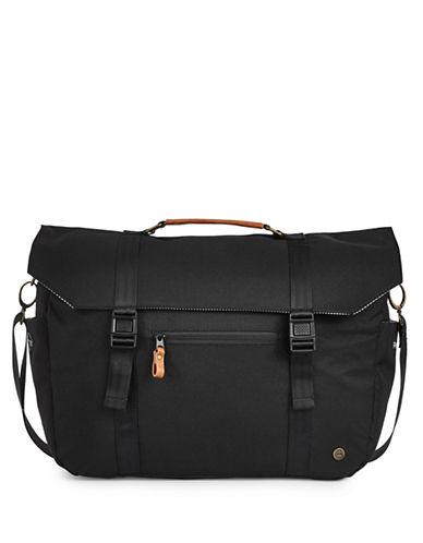 Pkg Buckled Flap Messenger Bag-BLACK-One Size