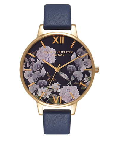 Olivia Burton Enchanted Gardens Bee Blooms Watch-GOLD-One Size