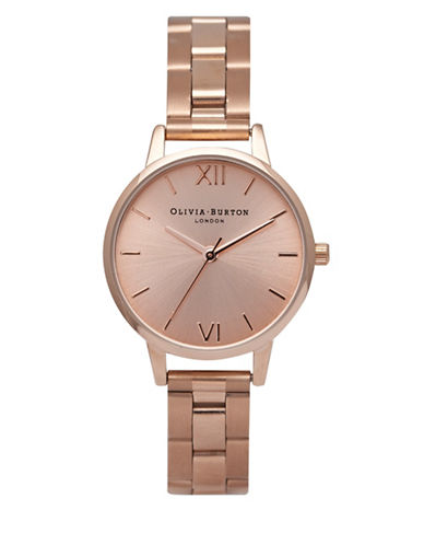 Olivia Burton Rose Goldtone Midi Analog Watch-ROSE GOLD-One Size