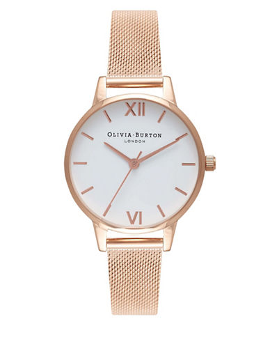 Olivia Burton Rose Goldtone Mesh Bracelet Watch-ROSE GOLD-One Size