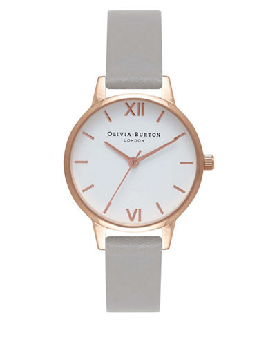 Olivia Burton Rose Goldtone Leather Analog Watch-ROSE GOLD-One Size