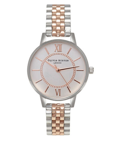 Olivia Burton Wonderland Two Tone Bracelet Watch-ROSE GOLD-One Size