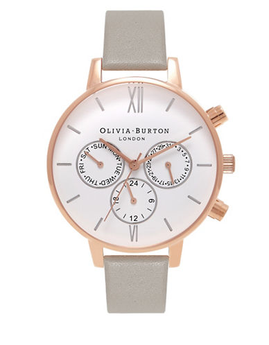 Olivia Burton Analog Chrono Detail Watch-ROSE GOLD-One Size