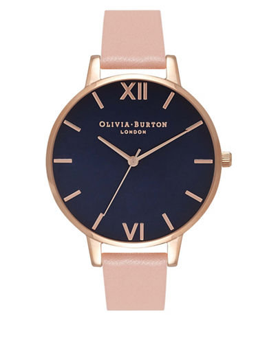 Olivia Burton Contrast Analog Watch-ROSE GOLD-One Size