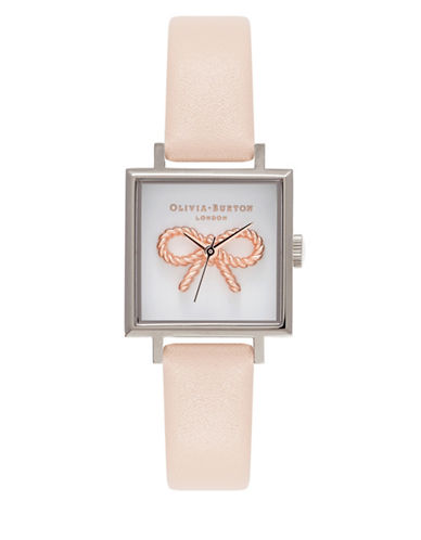 Olivia Burton 3D Vintage Bow Square Watch-ROSE GOLD-One Size