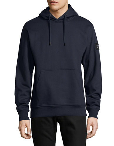 Nicce Patch Jumper Hoodie-BLUE-X-Large