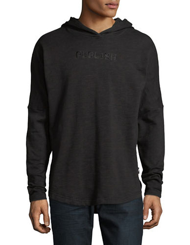 Publish Brand Kamden Long-Sleeve Cotton Hoodie-BLACK-Small