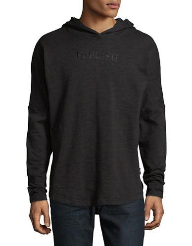 Publish Brand Kamden Long-Sleeve Cotton Hoodie-BLACK-X-Large