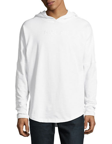 Publish Brand Kamden Long-Sleeve Cotton Hoodie-WHITE-Small