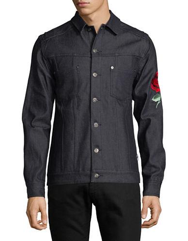 Publish Brand Embroidered Cotton-Blend Jacket-BLUE-Large